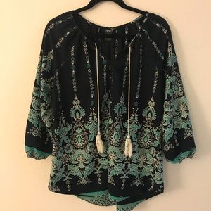 Tops - Printed Tunic Blouse